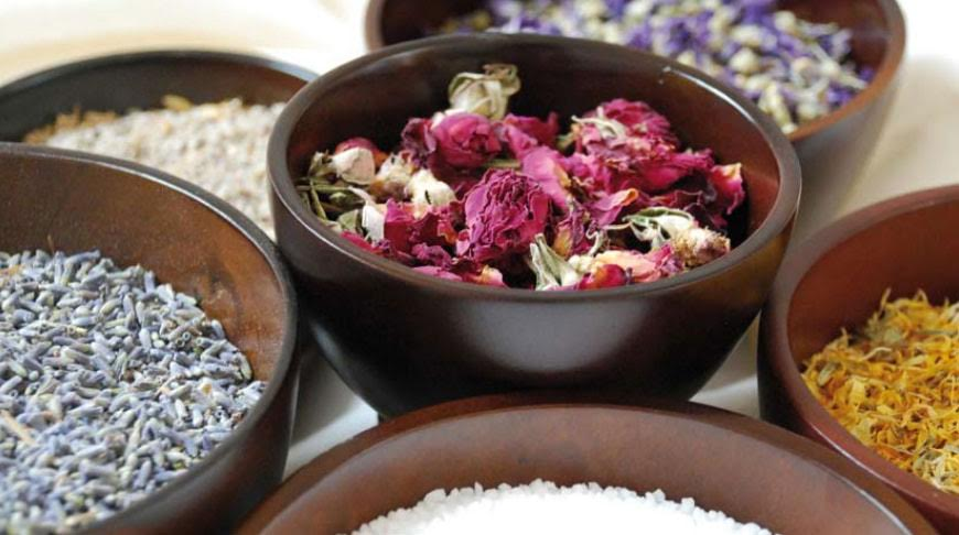 Hand Crafted Recipes for natural spa therapy