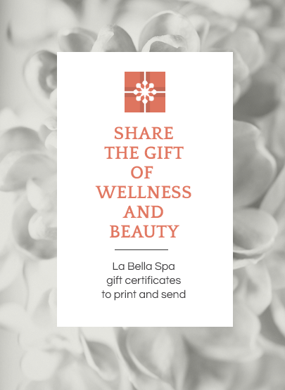 Gift Certificates at La Bella Spa