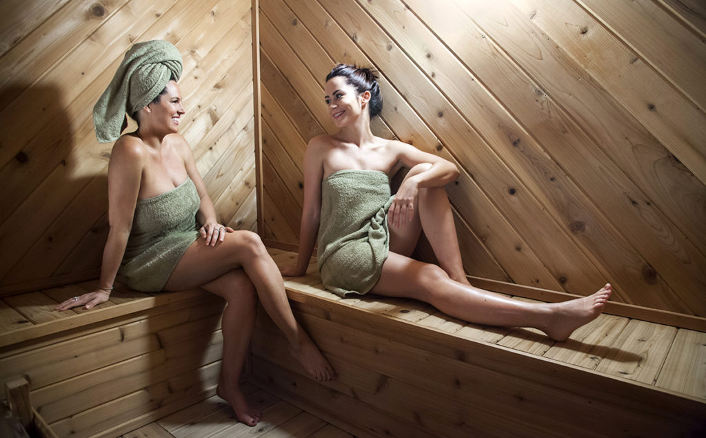 Cedar Sauna- great for muscle tension and to detoxify.