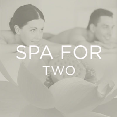 Spa For Two - Price Reflects Two Guests